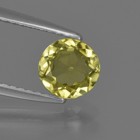 Green Yellow Sillimanite Gem - 0.8ct Round Facet (ID: 411680)