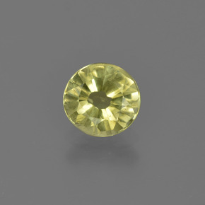 0.8ct Oval Facet Lemon Yellow Sillimanite Gem (ID: 411687)