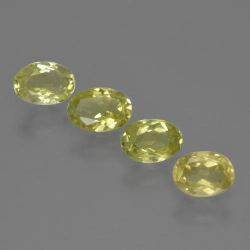 0.5ct Oval Facet Medium Yellow Sillimanite Gem (ID: 411716)