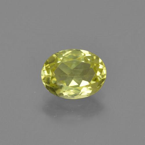 1.4ct Oval Facet Lemon Yellow Sillimanite Gem (ID: 411740)