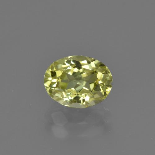 1.6ct Oval Facet Green Yellow Sillimanite Gem (ID: 411741)