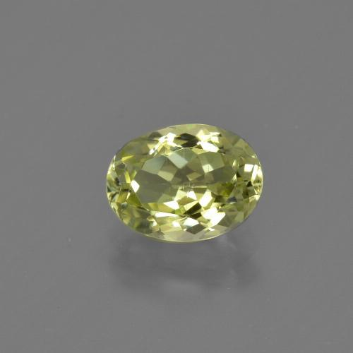 1.4ct Oval Facet Yellow Green Sillimanite Gem (ID: 411742)
