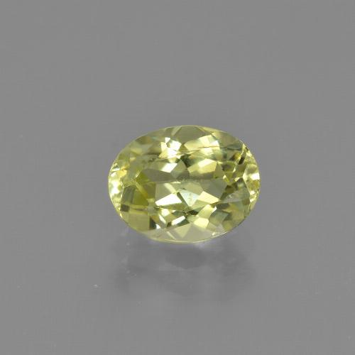 1.3ct Oval Facet Greenish Yellow Sillimanite Gem (ID: 411743)