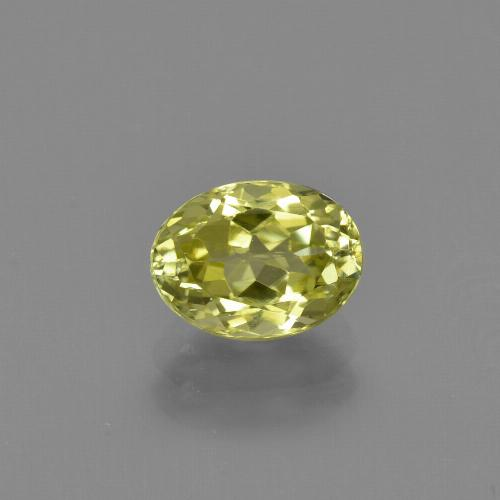1.4ct Oval Facet Greenish Yellow Sillimanite Gem (ID: 411744)