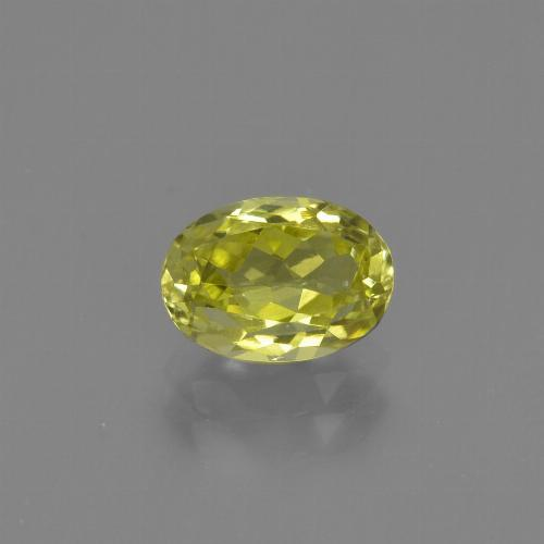 1.3ct Oval Facet Medium Yellow Sillimanite Gem (ID: 411745)