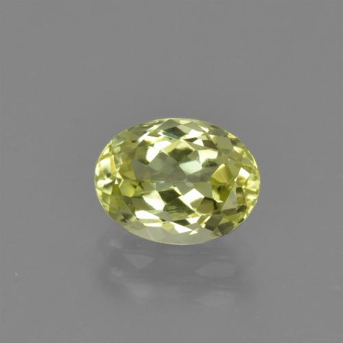 1.6ct Oval Facet Yellow Green Sillimanite Gem (ID: 411747)