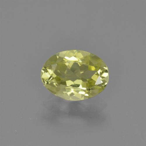 1.1ct Oval Facet Light Yellow Sillimanite Gem (ID: 411748)