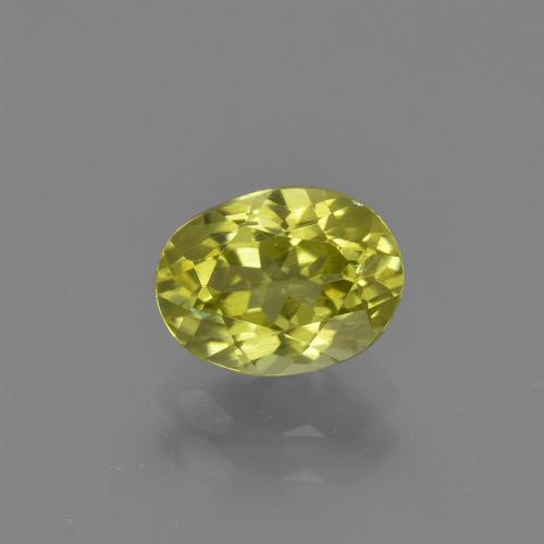 1.4ct Oval Facet Medium Yellow Sillimanite Gem (ID: 411749)