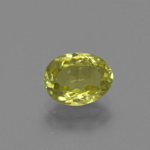 1.3ct Oval Facet Medium Yellow Sillimanite Gem (ID: 411750)