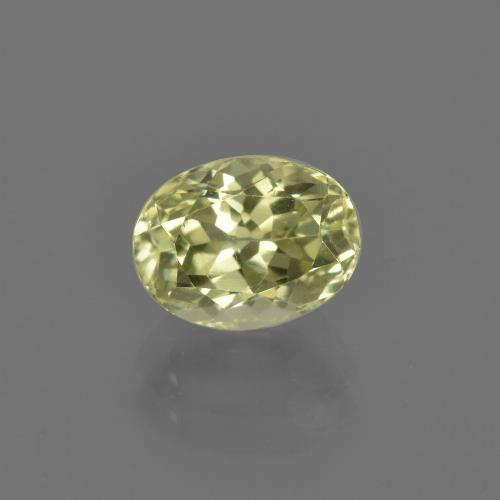1.7ct Oval Facet Pale Cream Yellow Sillimanite Gem (ID: 411763)