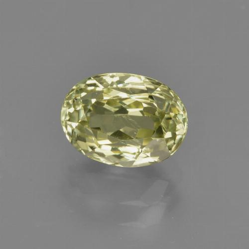 1.7ct Oval Facet Medium Yellow Sillimanite Gem (ID: 411765)