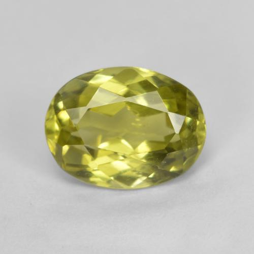 1.6ct Oval Facet Lemon Yellow Sillimanite Gem (ID: 411768)