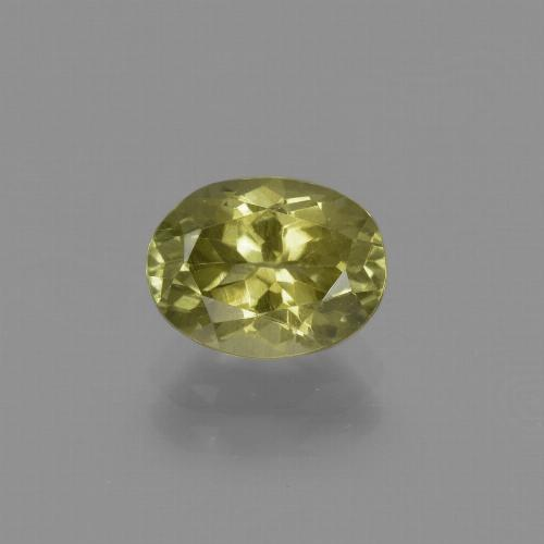1.6ct Oval Facet Medium Yellow Sillimanite Gem (ID: 411769)