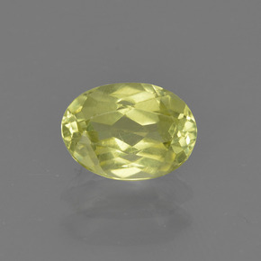 0.9ct Oval Facet Light Greenish Yellow Sillimanite Gem (ID: 411788)