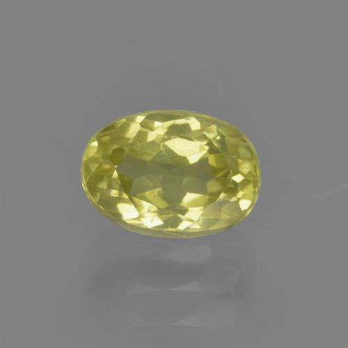 1.2ct Oval Facet Pineapple yellow Sillimanite Gem (ID: 411794)
