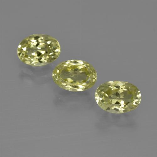 1ct Oval Facet Green Yellow Sillimanite Gem (ID: 411812)
