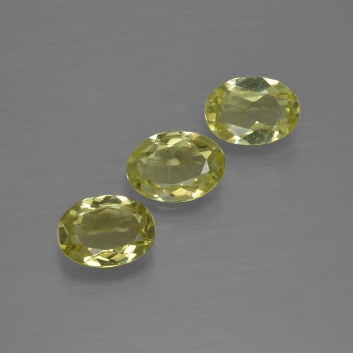 0.7ct Oval Facet Greenish Yellow Sillimanite Gem (ID: 411814)