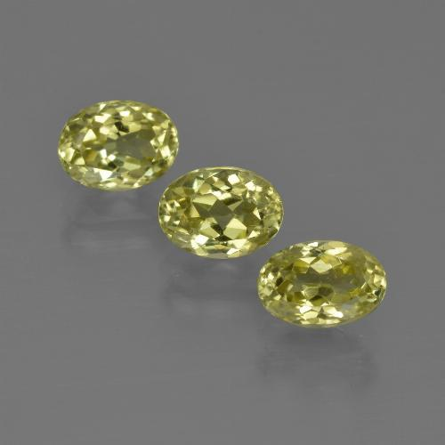 1ct Oval Facet Medium Yellow Sillimanite Gem (ID: 411815)