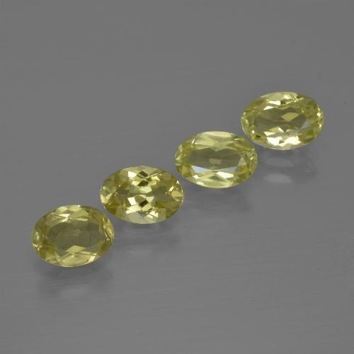 0.7ct Oval Facet Greenish Yellow Sillimanite Gem (ID: 411816)