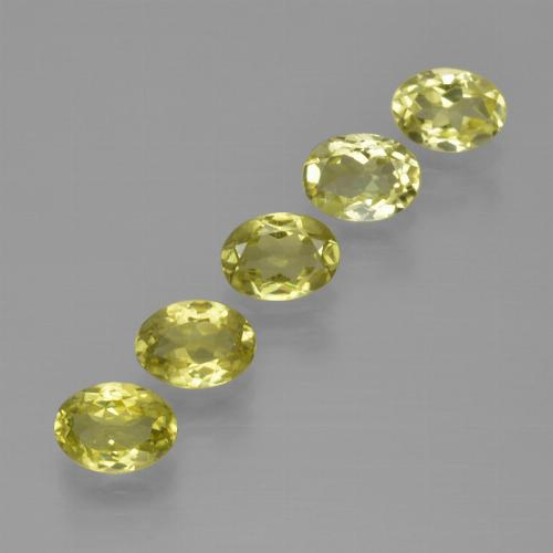 0.9ct Oval Facet Greenish Yellow Sillimanite Gem (ID: 411818)