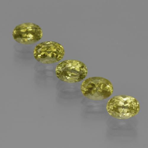 1.1ct Oval Facet Light Yellow Sillimanite Gem (ID: 411819)