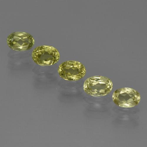 0.5ct Oval Facet Greenish Yellow Sillimanite Gem (ID: 411821)