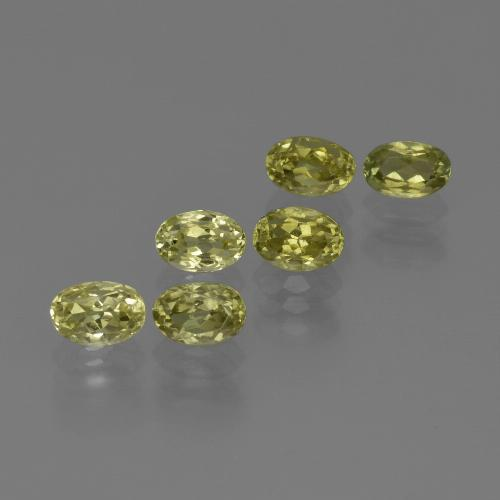 0.7ct Oval Facet Greenish Yellow Sillimanite Gem (ID: 411822)