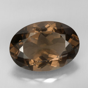 31 6 Carat Oval 25 7x18 3mm Natural And Untreated Smoky