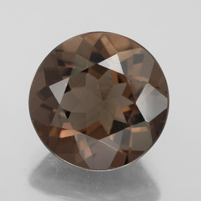 Smoky Quartz 5ct Round From Brazil Natural And Untreated