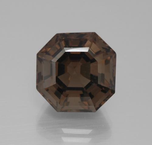Umber Brown Smoky Quartz Gem - 10.2ct Asscher Cut (ID: 394688)