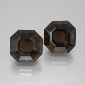 Brown Smoky Quartz Gem - 5.1ct Asscher Cut (ID: 394704)