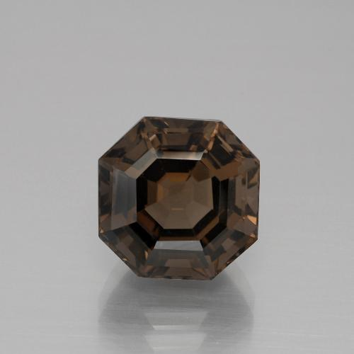 Dark Brown Smoky Quartz Gem - 5.4ct Asscher Cut (ID: 394918)