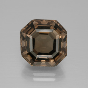 Dark Blue Smoky Quartz Gem - 9.1ct Asscher Cut (ID: 397344)