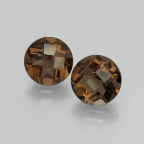 thumb image of 1.8ct Round Checkerboard Brown Smoky Quartz (ID: 398681)