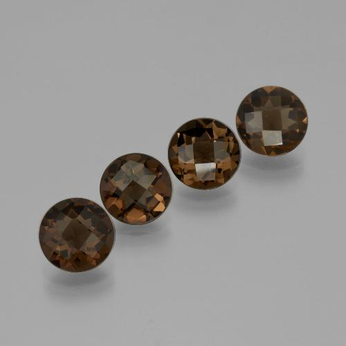 thumb image of 1.6ct Round Checkerboard Brown Smoky Quartz (ID: 400732)
