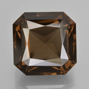 Brown Smoky Quartz Gem - 15ct Octagon / Scissor Cut (ID: 408037)
