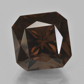 Brown Smoky Quartz Gem - 16.2ct Octagon / Scissor Cut (ID: 408042)