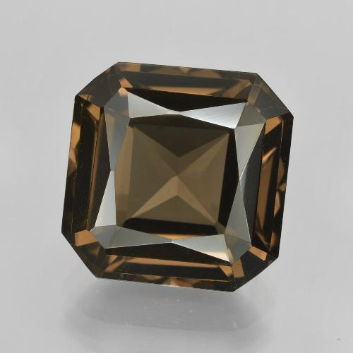Medium-Light Brown Cuarzo Ahumado Gema - 10.2ct Corte Octágon / Forma de Tijera (ID: 408132)