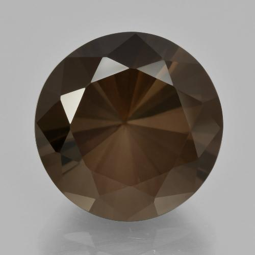 Deep Brown Smoky Quartz Gem - 10.2ct Diamond-Cut (ID: 408344)