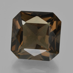 Brown Smoky Quartz Gem - 11.5ct Octagon / Scissor Cut (ID: 413550)