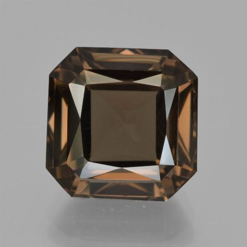 7.6ct Octagon / Scissor Cut Brown Smoky Quartz Gem (ID: 413556)
