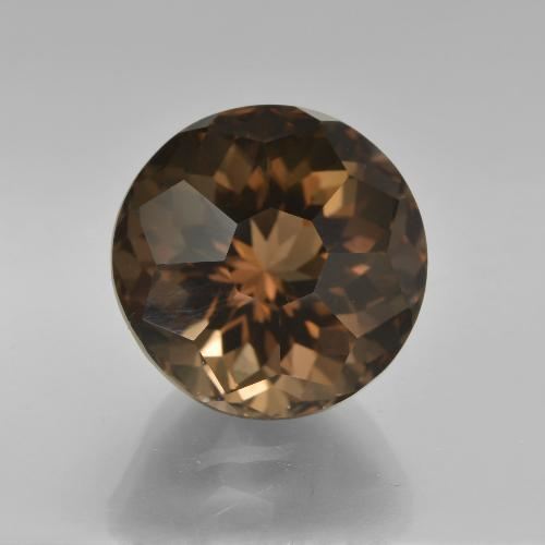 7.66 ct Round Petal Cut Brown Smoky Quartz Gemstone 11.95 mm  (Product ID: 417763)