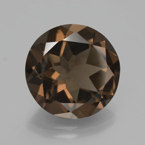 Medium Brown Cuarzo Ahumado Gema - 7.3ct Faceta Redonda (ID: 426890)
