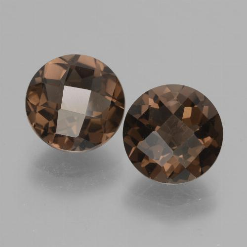thumb image of 1.8ct Round Checkerboard Brown Smoky Quartz (ID: 428333)