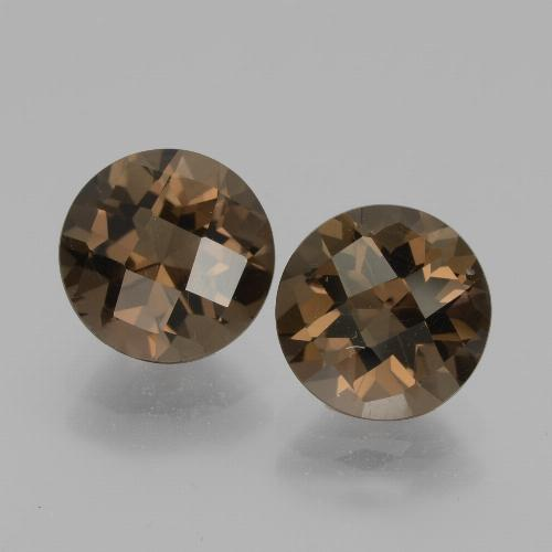 thumb image of 1.8ct Round Checkerboard Brown Smoky Quartz (ID: 436893)