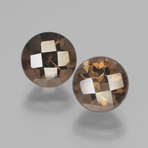 thumb image of 2ct Round Checkerboard Brown Smoky Quartz (ID: 437216)