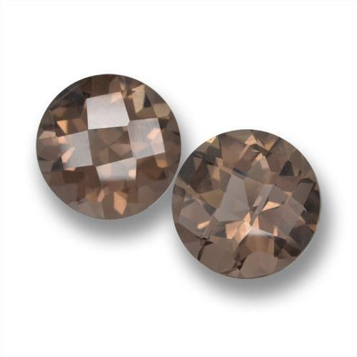 thumb image of 3.4ct Round Checkerboard Brown Smoky Quartz (ID: 461366)