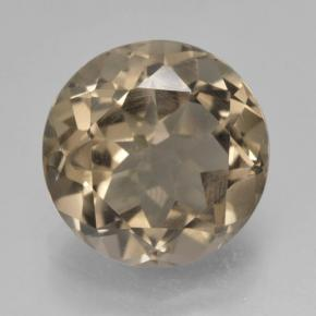 thumb image of 4.7ct Round Facet Brown Smoky Quartz (ID: )