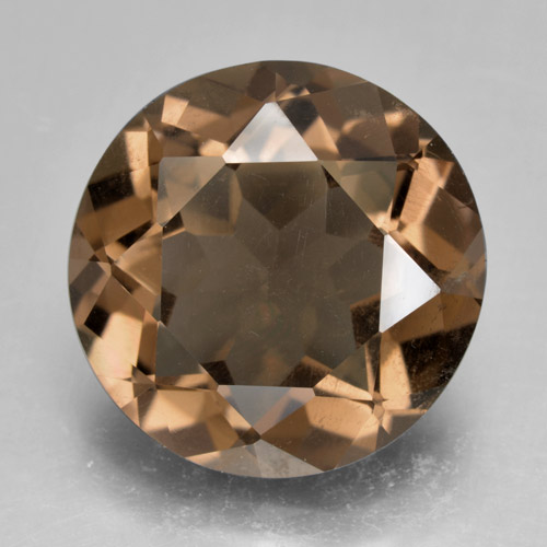 Warm Brown Cuarzo Ahumado Gema - 8.9ct Faceta Redonda (ID: 463863)