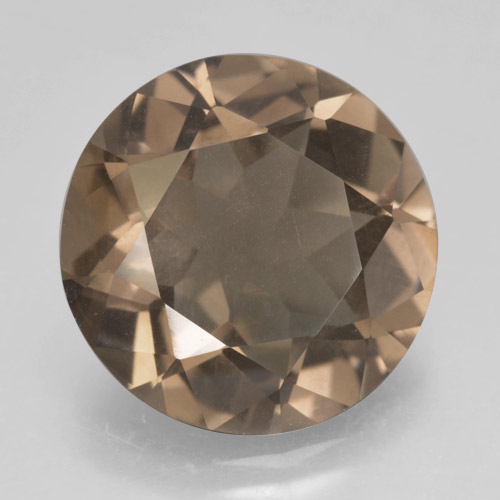 Brown Smoky Quartz Gem - 10.2ct Round Facet (ID: 463877)